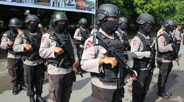 polisi jaga demo